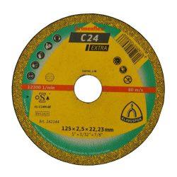 Disc debitat roca KT/EXTRA/C24EX/S/GER/125X2,5X22,23 Klg