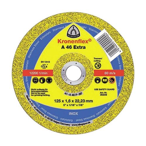 Disc debitat inox KT/EXTRA/A46EX/S/GER/125X1,6X22,23 Klg