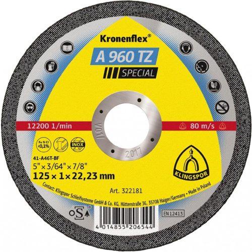 Disc debitat KT/SPECIAL/A980TZ/S/GEK/125X0,8X22,23/DO Klg