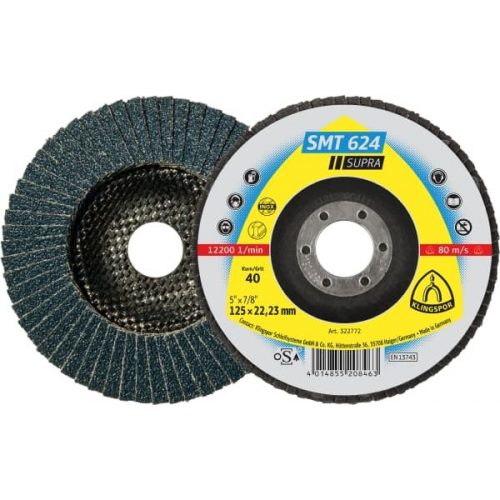 Disc lamelar otel si inox TE/SUPRA/SMT624/80/N/125X22,23 Klg