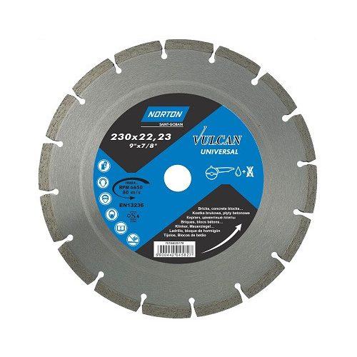 Disc diamantat Universal 125x22,23 Norton Vulcan