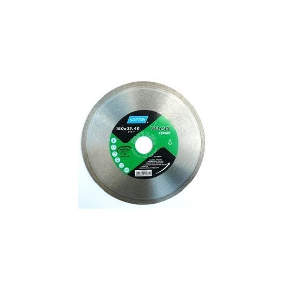 Disc diamantat sinterizat cu margine continua CERAM taiere umeda si uscata NORTON 180X22.23 mm