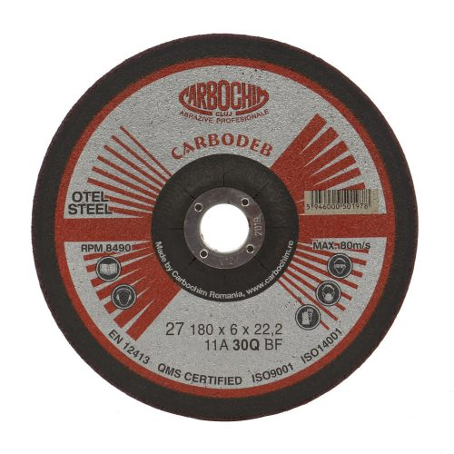 Disc polizat inox 50ABACH27E 125 6 22.2 030Q Carbo