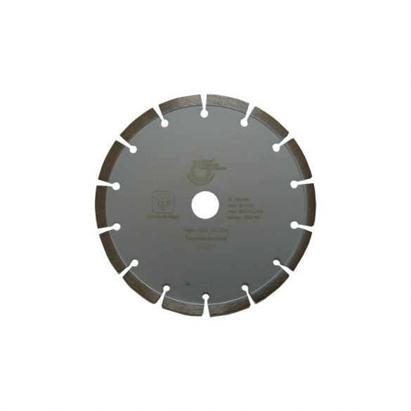 Disc diamantat sinterizat pentru caramizi, materiale similare Ø 180 mm Silverline Sinter GSL
