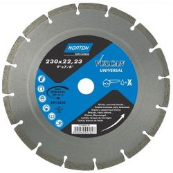 Disc diamantat segmentat sinterizat UNIVERSAL taiere umeda si uscata NORTON 230X22.23 mm