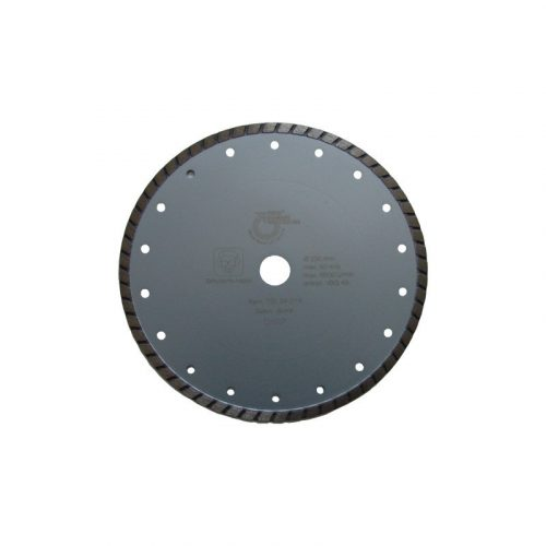 Disc diamantat sinterizat pentru granit, beton, clinker, pietre artificiale dure, materiale similare Ø 230 mm Silverline Turbo TSL