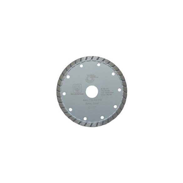 Disc diamantat sinterizat pentru granit, beton, clinker, pietre artificiale dure, materiale similare Ø 115 mm Silverline Turbo TSL