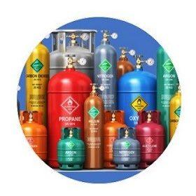 Butelii gaze industriale